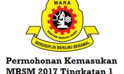 Panduan Permohonan Kemasukan MRSM 2017 Tingkatan 1 Online