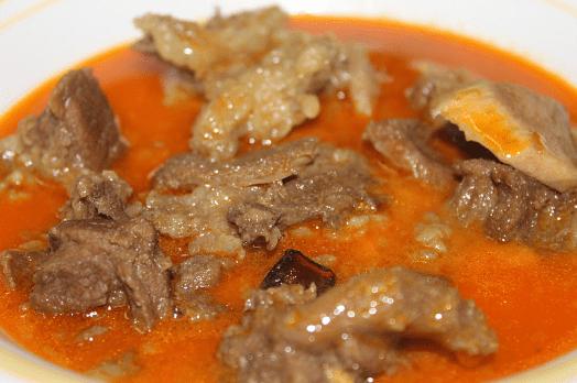 Bahan bahan Daging Gulai Kawah
