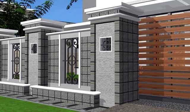 Contoh Pagar Rumah Minimalis Modern Desain Gambar Foto Tipe
