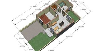 Denah Rumah Tipe 36 72 3 Dimensi