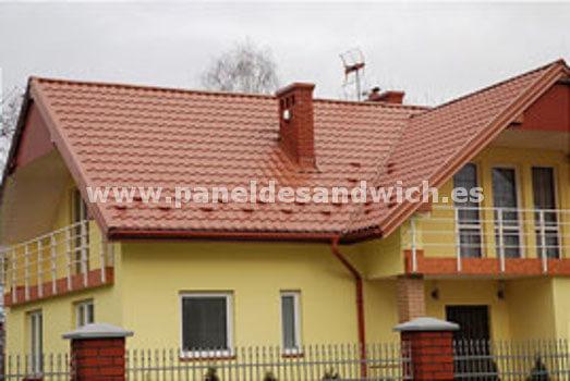 Disfruta de seguridad y ahorro en la construcción de tu casa con Panel Sandwich Teja
