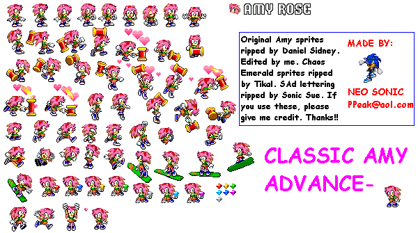 Rouge Sonic Sprite Sheet