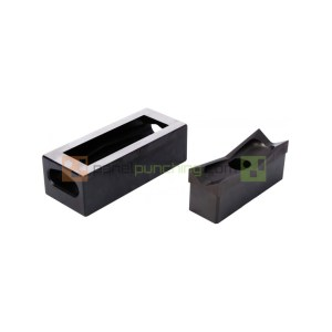 Alfra 1/32 DIN 22 X 45mm Rectangular Punch/Die Set