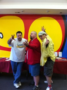 The Aw Yeah Comics Crew: Franco Aureliani, Marc Hammond and Art Baltazar.
