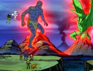 x-men-animated-series-season-3-9-savage-land-strange-heart-part-2-sauron-garokk-battle