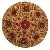 Sand Tan Field with Red and Green Accents area rug 2