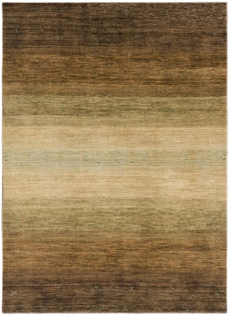 Gabbeh Design – Vegetable Dyed in Light Brown and Green