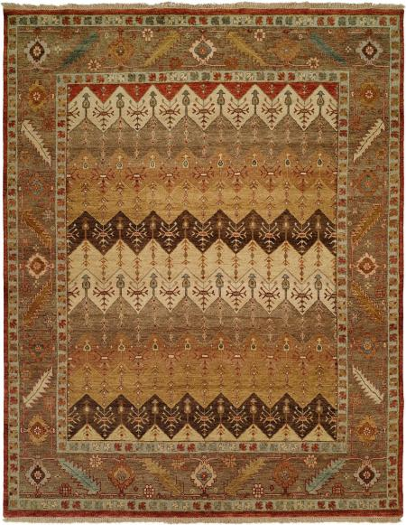 Brown Rust and Tan Multi-Colored area rug