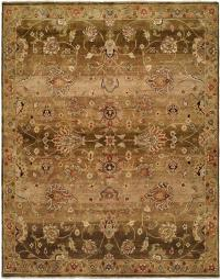 Chocolate Brown and Tan area rug