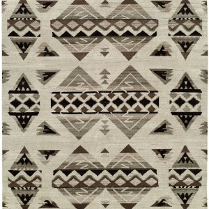 Navajo Blanket Design. Natural Grey Black and Ivory