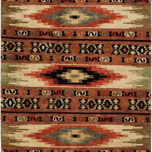 Southwestern Tribal Design - Multi Colored with Rust and Black area rug