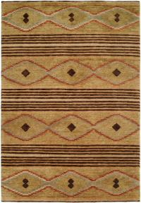 Navajo Rug Design - Sage Wheat with Multi Colored Accents area rug