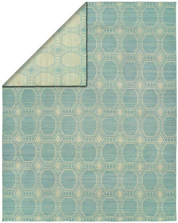 Light Blue Ivory area rug