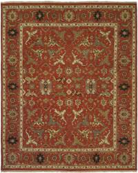 Red Border with Red Field and Multi-Colored Accents area rug