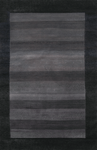 Gabbeh Design in Charcoal Black area rug