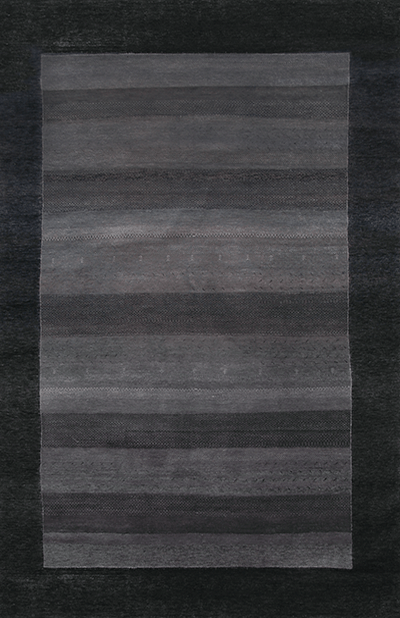 Gabbeh Design in Charcoal Black area rug