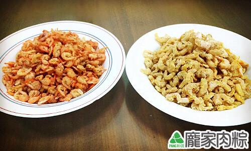 染色蝦米與正常蝦米的比較