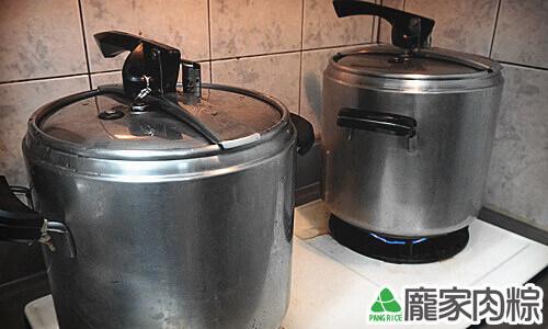 龐家肉粽壓力鍋煮粽子