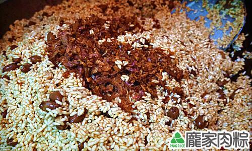 龐家肉粽炒糯米教學