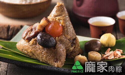 龐家栗香櫻花蝦干貝粽頂級大干貝