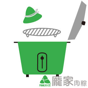 粽子電鍋加熱-準備鐵網或內鍋