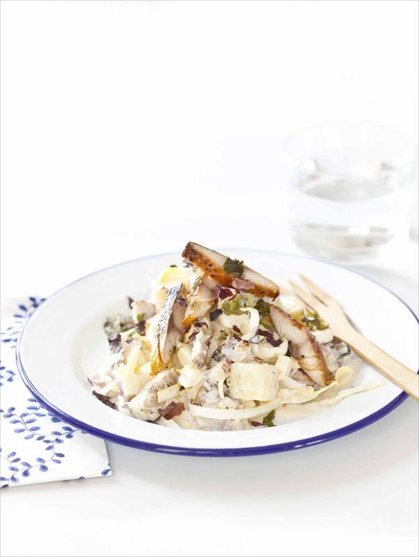 Salade de maquereaux fumés à la sauce gravlax 1