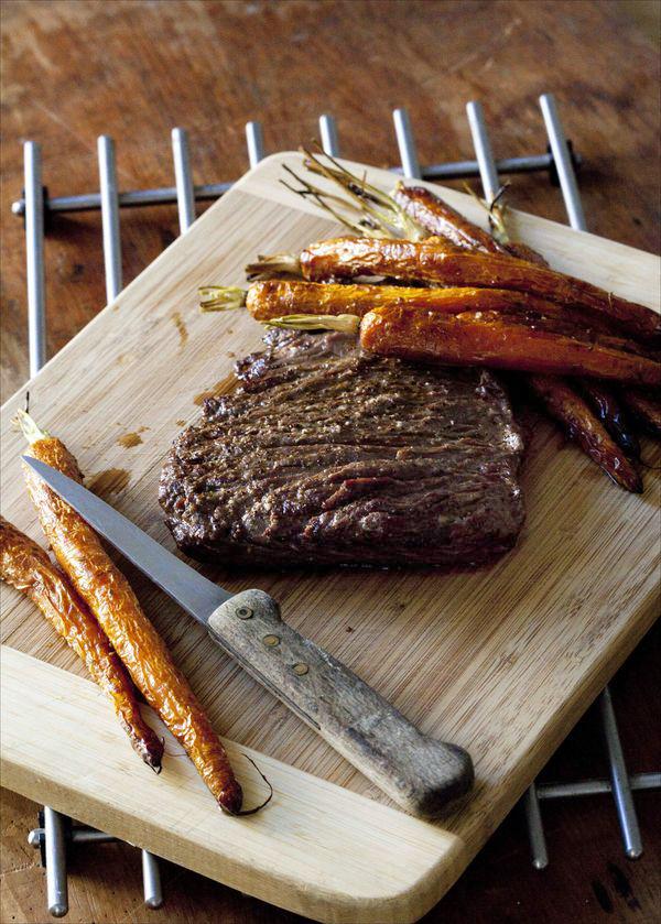 Bavette grillée carottes rôties au four 3