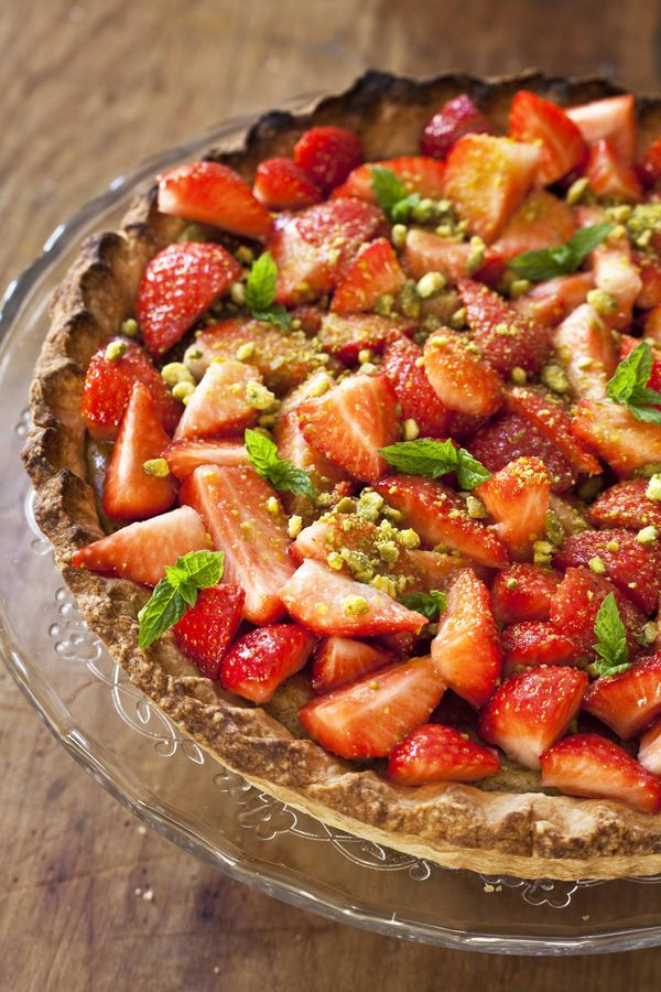 Tarte cheesecake aux fraises et à la pistache 1