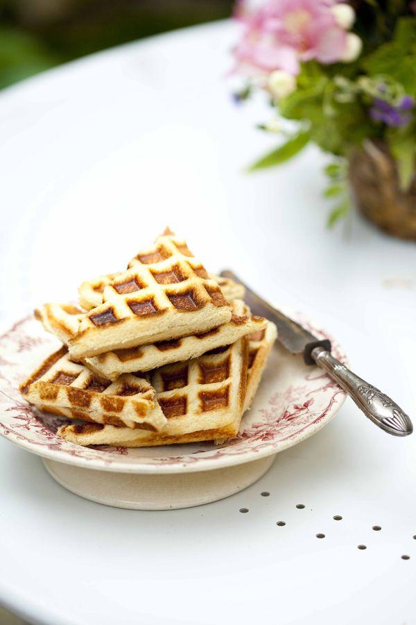Gaufre fourrée à la vanille recette express au pain de mie 1