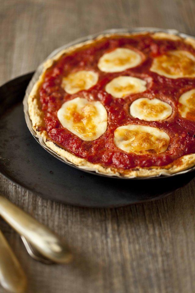 Tarte pizza à la tomate et à la mozzarella 11