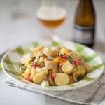 Salade été de pommes de terre primeurs et l'Affligem Triple