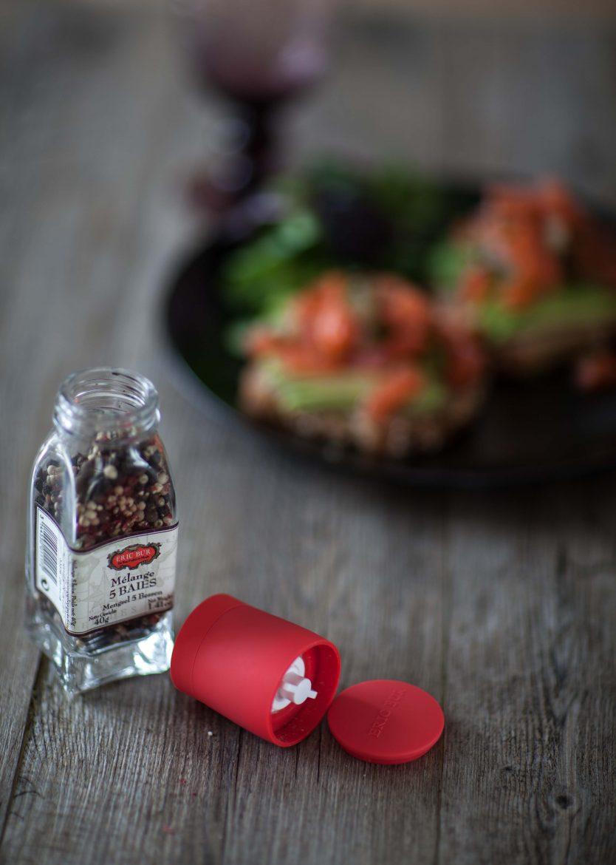 Bouchon Moulin en céramique pour épices, sels et aromates Eric Bur