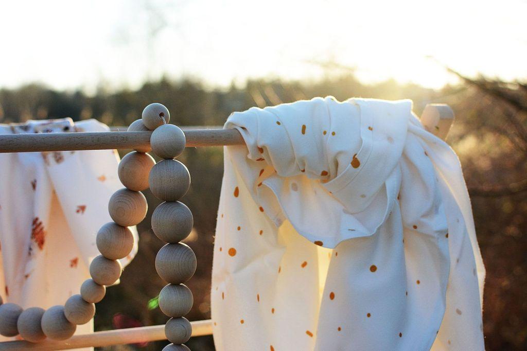 Coodo chusta bambusowa gold dots złote kropki