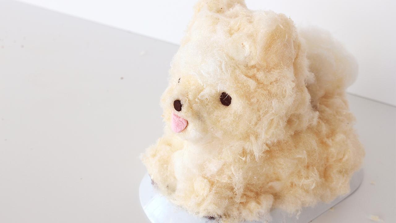 Pankobunny Fluffy Pomeranian Cake ふわふわのポメラニアンのケーキ