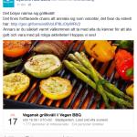 Du är bjuden på vegansk grillkväll i Stadsparken i Lund av Djurens Rätt