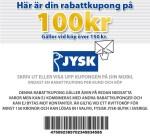 Registrera din e-mailadress hos Jysk och få rabattkupong