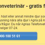 Agria har gratis sjukvårsupplysning