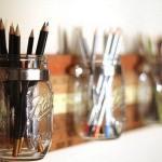 Smart förvaring av pennor, penslar och varför inte bestick!