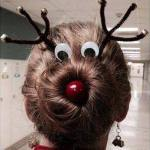 En Rudolf i håret :)