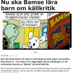 Lär barnen att bli källkritiska med Bamse :)