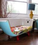 Soffa av ett badkar