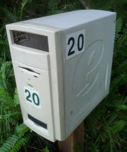 brevlåda av gammal dator