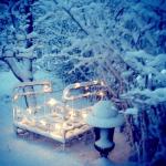 En stämningsfull vintersäng
