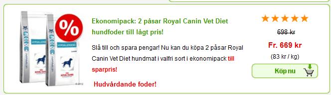 royal canin hundfoder rabatt
