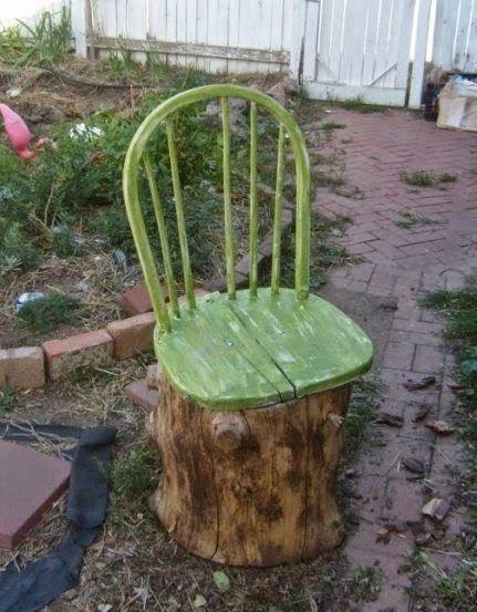 sitta på en stubbe