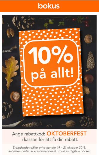 10% rabatt bokus