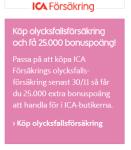 Extra bonuspoäng på ICA att handa mat för när du tecknar försäkring
