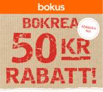Rabattkupong 50 kr på Bokus