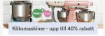 40% rabatt på köksmaskiner