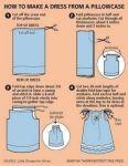 Sy en barnklänning av ett örngott